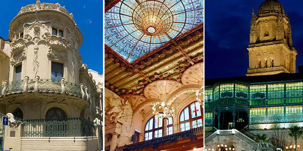 escapadas por edificios Modernismo de España con hoteles baratos