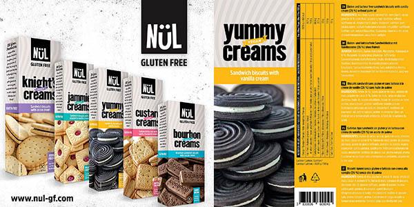 galletas con crema de vainilla Nül sin gluten pack ahorro con buenas valoraciones