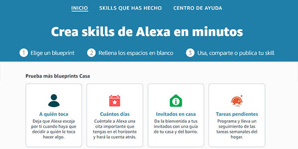 guía para crear Skills de Alexa en dispositivos Amazon Echo
