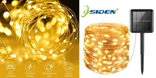 Guirnalda de luces LED Solar para exterior barata en AliExpress