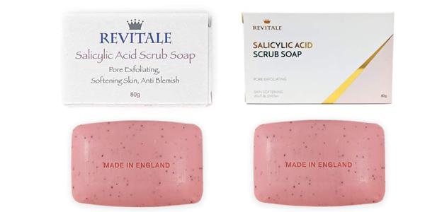 Jabón exfoliante Revitale con ácido salicílico para el acné y antimanchas chollazo en Amazon