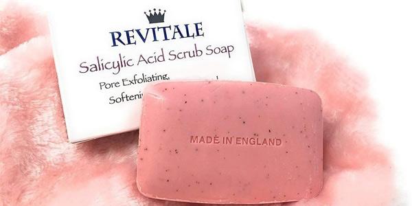 Jabón exfoliante Revitale con ácido salicílico para el acné y antimanchas barato en Amazon