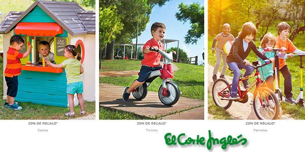 juguetes y videojuegos baratos en El Corte Inglés promoción cupón regalo junio 2020