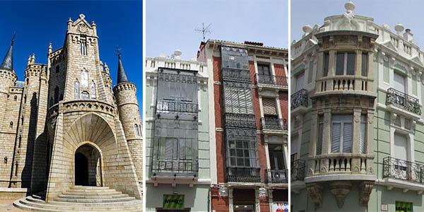 León y Astorga edificios modernismo ruta económica