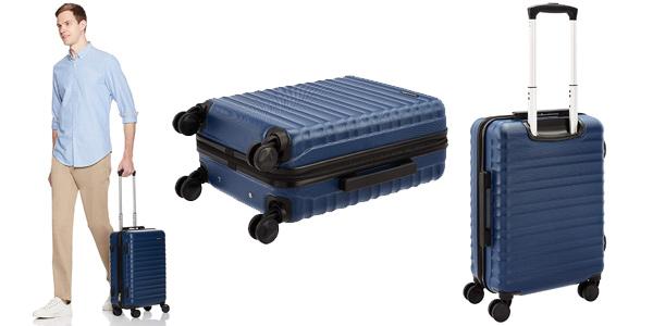 Maleta rígida de cabina AmazonBasics de 55 cm y con ruedas barata en Amazon