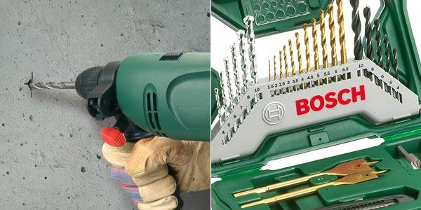 Maletín de 50 unidades para taladrar y atornillar Bosch X-Line Titanio 2607019327 chollo en Amazon
