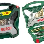 Maletín de 50 unidades para taladrar y atornillar Bosch X-Line Titanio 2607019327 barato en Amazon