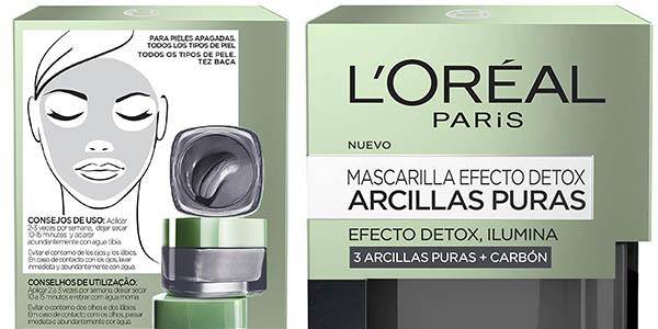 mascarilla facial L'Oréal Paris Dermo Expertise Arcillas Puras oferta