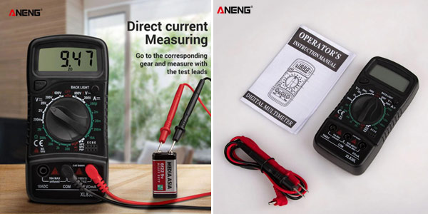 Multimetro digital ANENG XL830L chollo en AliExpress