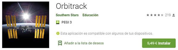 orbitrack app móvil gratis para Android