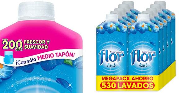 Pack de 10 botellas de suavizante Flor Azul (530 lavados) barato en Amazon