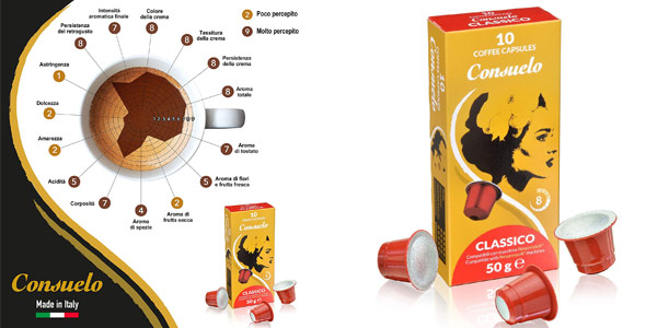 Pack x100 cápsulas de café Consuelo Classico compatibles con Nespresso chollo en Amazon