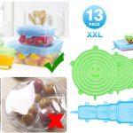 Pack x13 tapas de silicona elásticas Modohe barato en Amazon