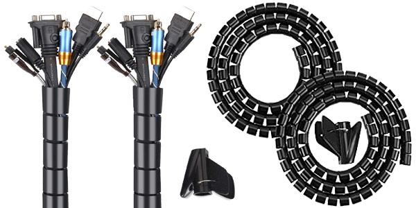 Pack x2 Organizadores flexibles de cables Mosotech barato en Amazon