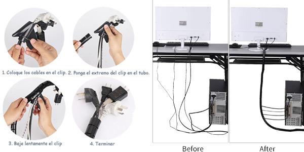 Pack x2 Organizadores flexibles de cables Mosotech chollazo en Amazon