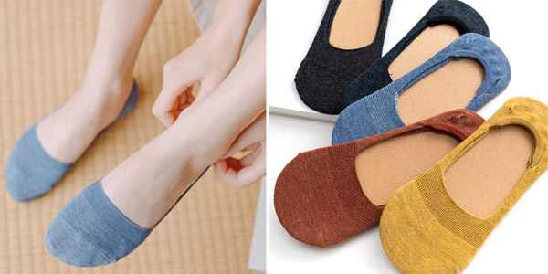 Pack 5 pares Calcetines invisibles para mujer baratos en AliExpress
