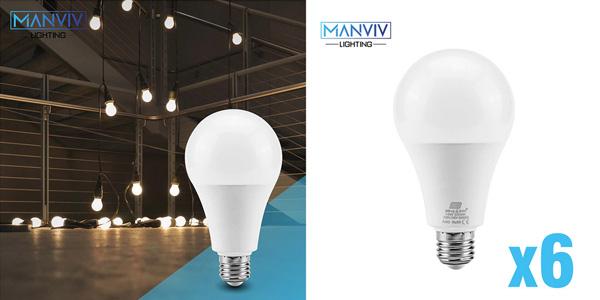 Pack x6 bombillas LED E27 barato en AliExpress
