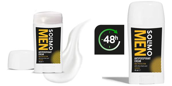 Pack x6 Crema antitranspirante Amazon Solimo MEN para hombre chollo en Amazon