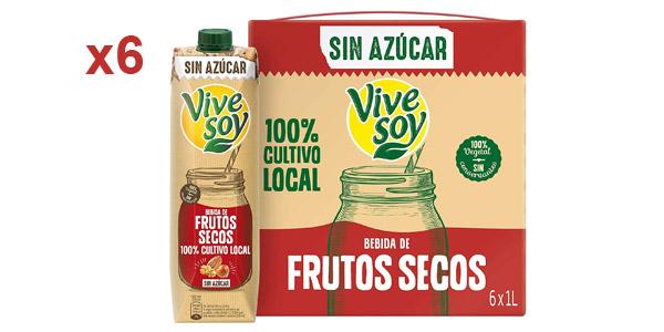 Pack x6 Vivesoy Frutos Secos sin Azúcar de 1L/ud barato en Amazon