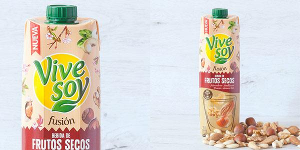 Pack x6 Vivesoy Frutos Secos sin Azúcar de 1L/ud chollo en Amazon