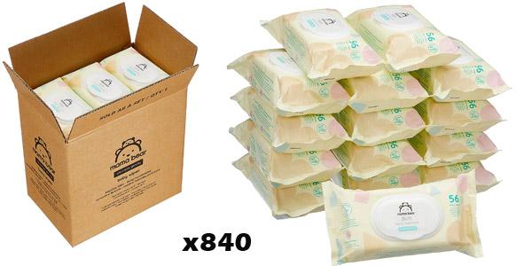 Pack x840 Toallitas húmedas Mama Bear Soft para bebé barato en Amazon