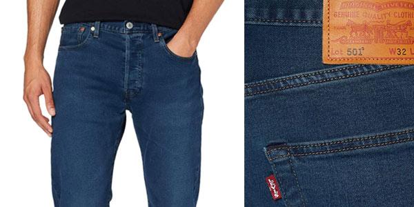 Pantalones Levi's 501 Fit Jeans baratos en Amazon