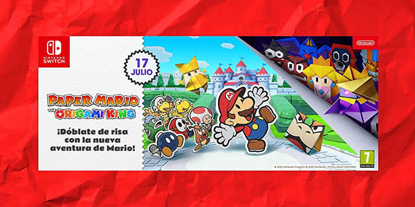 Paper Mario: The Origami King para Switch en oferta en Amazon