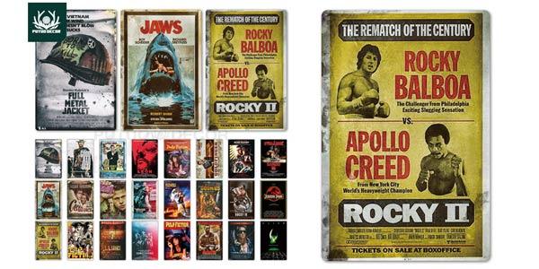 Placas vintage clásicos del cine baratas en AliExpress