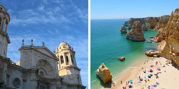 ruta en coche desde Cádiz al Algarve económica