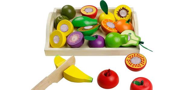 Set infantil de frutas y verduras de madera