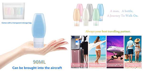 Uervoton botes de silicona antifugas con medidas de equipaje aerolíneas baratos