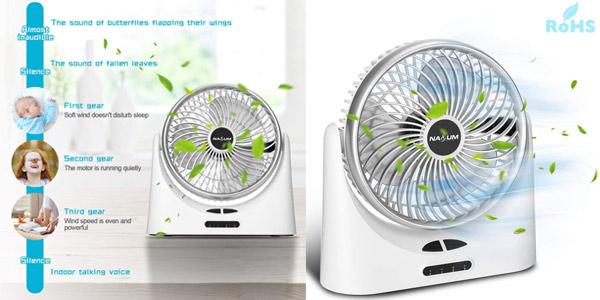 Mini Ventilador Portátil NASUM barato en Amazon