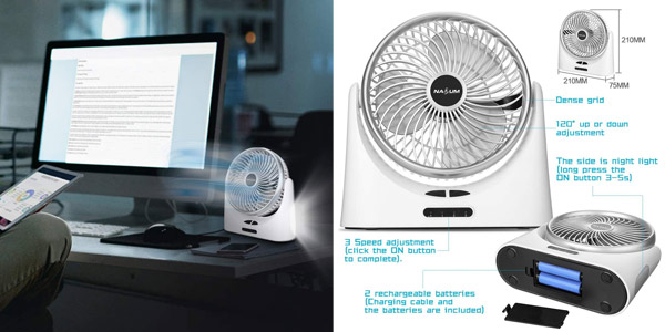 Mini Ventilador Portátil NASUM chollo en Amazon