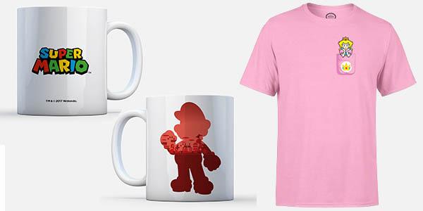 Zavvi oferta taza y camiseta de Super Mario Bros oficial de Nintendo