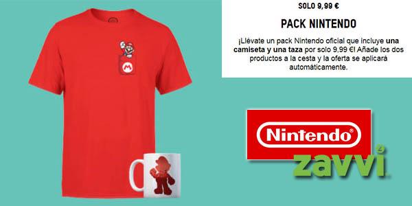 Zavvi promoción Nintendo camiseta y taza chollo