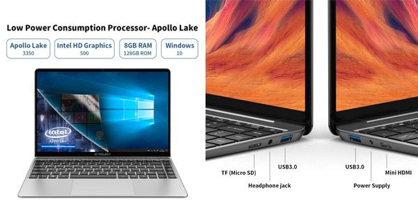 "Portátil Teclast F7S de 14.1"" FullHD (Celeron N3350, 8GB, 128GB SSD, W10) chollo en Amazon"