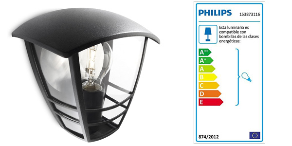 Aplique de exterior Philips Lighting myGarden Creek IP44 barato en Amazon