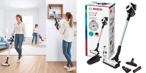 Aspirador inalámbrico Bosch Unlimited Serie 6 BCS611AM barato en Amazon