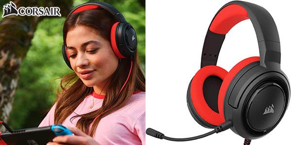 Auriculares gaming Corsair HS35 con micrófono extraíble