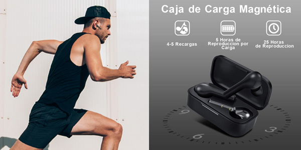 Auriculares Bluetooth HOMSCAM con Modo de Juego chollazo en Amazon