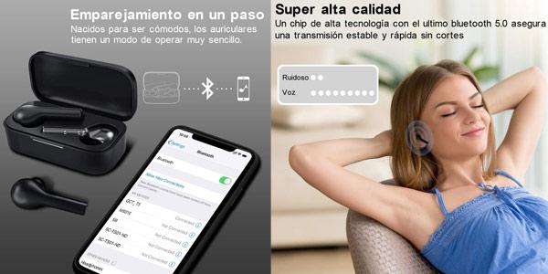 Auriculares Bluetooth HOMSCAM con Modo de Juego chollo en Amazon