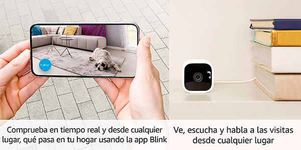 Cámara de seguridad inteligente Blink Mini HD compatible con Alexa barata