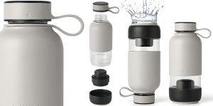 Botella de agua con Filtro Bottle to Go de Lékué de 600 ml barata en Amazon