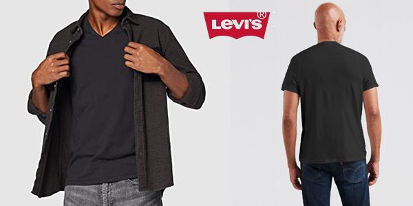 Camiseta de manga corta Levi's Orig Hm Vneck para hombre chollo en Amazon