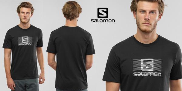 Camiseta manga corta Salomon Blend Logo para hombre barata en Amazon