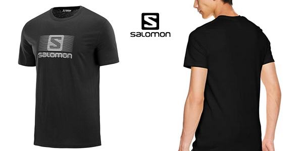 Camiseta manga corta Salomon Blend Logo para hombre chollo en Amazon