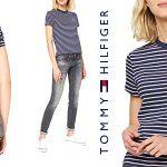 Camiseta manga corta Tommy Hilfiger Tjw Essential Stripe tee para mujer barata en Amazon