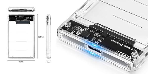 "Carcasa externa Posugear disco duro 2.5"" USB 3.0 chollazo en Amazon"
