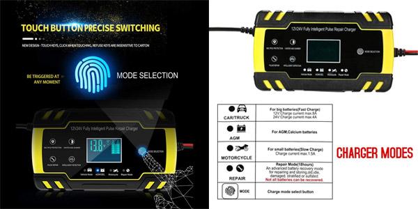 Cargador de Batería Coche KKmoon ZXY-J30 chollo en Amazon