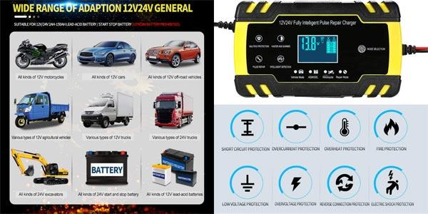 Cargador de Batería Coche KKmoon ZXY-J30 chollazo en Amazon